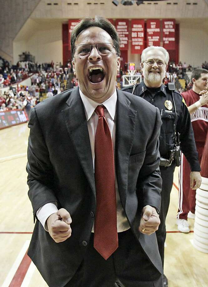From modest beginnings, coach Tom Crean has guided Indiana back to the top spot in college basketball. Photo: Darron Cummings, Associated Press