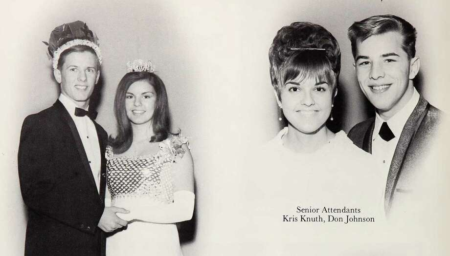 Don Johnson: South High School, 1967. (Seen here with co-senior attendant on the same page as the prom king and queen that year.) Photo: Ancestry.com