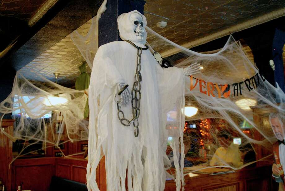 Black Bear Saloon in Stamford, Conn. is decorated on Friday October 26, 2012 for Halloween. Photo: Dru Nadler