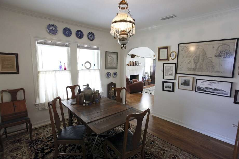 A view of the dining room Thursday Oct. 25, 2012 at Sarah Reveley's home. (San Antonio Express-News)