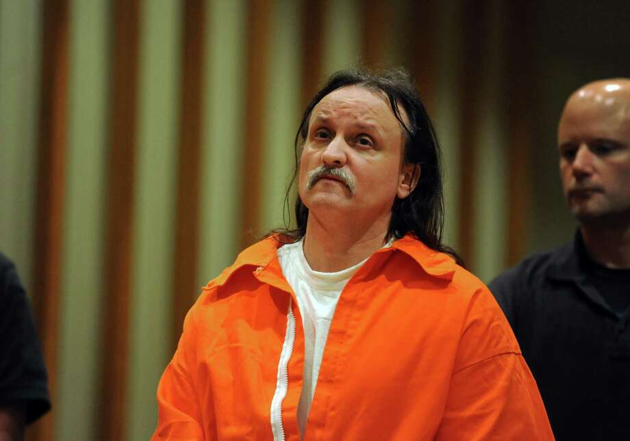 Murderer Richard Roszkowski Wednesday, June 6, 2012 during a pre-trial hearing to determine if he can represent himself in the penalty phase of his capital trial in Bridgeport Superior Court.  Roszkowski was convicted for the 2006 murders of his former girlfriend, her 9-year-old daughter and his former roommate. Photo: Autumn Driscoll