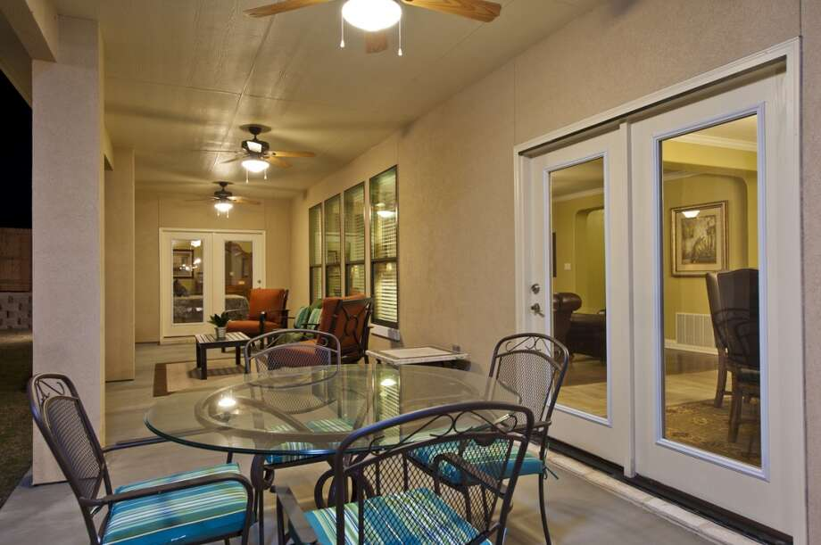 Outdoor living areas continue to be popular with homebuyers. This large covered patio can be reached through the living room or the master bedroom in this KB Home model in the Sundance Ridge neighborhood on the far West Side of San Antonio. (Courtesy photo)