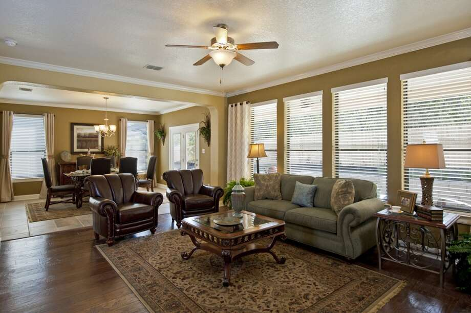 Large great rooms with open floor plans continue to be popular with homebuyers. Here's a great room that connects with the kitchen in a KB Home model in the Sundance Ridge neighborhood on the far West Side of San Antonio. (Courtesy photo)
