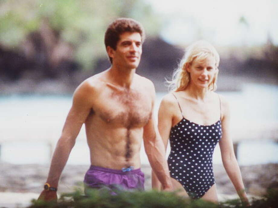 """Darryl Hannah worked a lot in the '80s, as a mermaid in """"Splash"""" and Steve Martin's love interest in """"Roxanne."""" She's pictured with John F. Kennedy Jr. in 1993.  Photo: Getty Images, . / 2004 Getty Images"""
