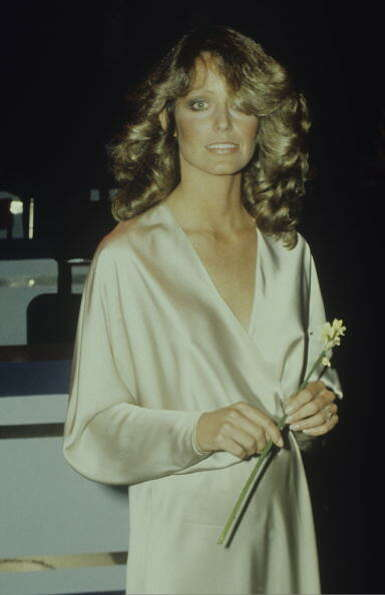 Farrah Fawcett became famous in the