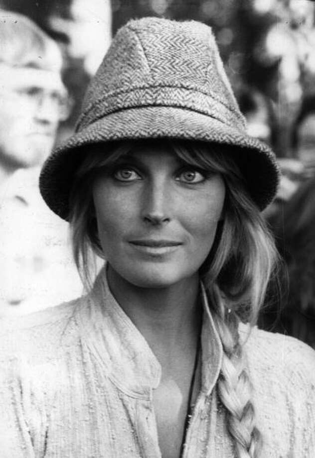 """Bo Derek was famous as a sex symbol in cornrows and skimpy swimsuit in 1979, after the movie """"10."""" That paved the way for some terrible '80s movies that mainly showed off her bod. She's pictured in 1981, promoting her movie """"Tarzan, the Ape Man."""" Photo: Central Press, . / Hulton Archive"""