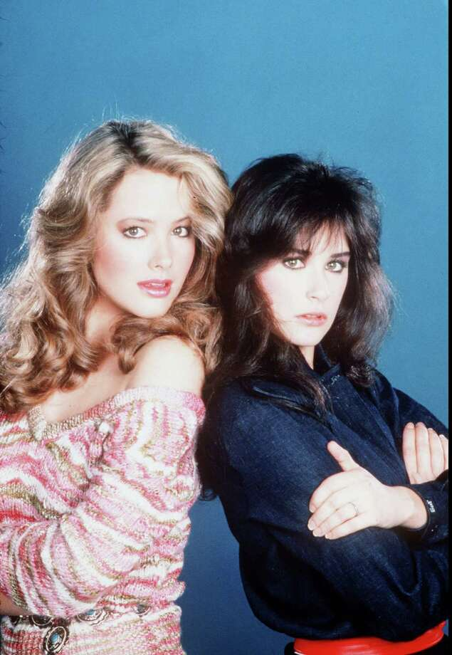 """Demi Moore(R) was part of the '80s Brat Pack of young movie actors, but she was a TV icon before that. She played scratchy-voiced Jackie Templeton in the soap """"General Hospital."""" She's pictured with Janine Turner.  Photo: ."""