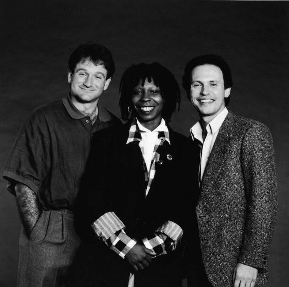 Whoopi Goldberg (center) made her