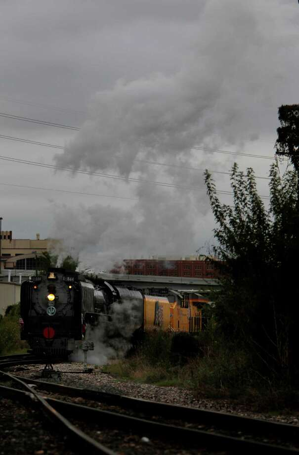 Union Pacific Steam Train arrives from Humble to Amtrak Station in Downtown Houston as Union Pacific marks their 150th Anniversary on Friday, Oct. 26, 2012, in Houston. Photo: Mayra Beltran, Houston Chronicle / © 2012 Houston Chronicle