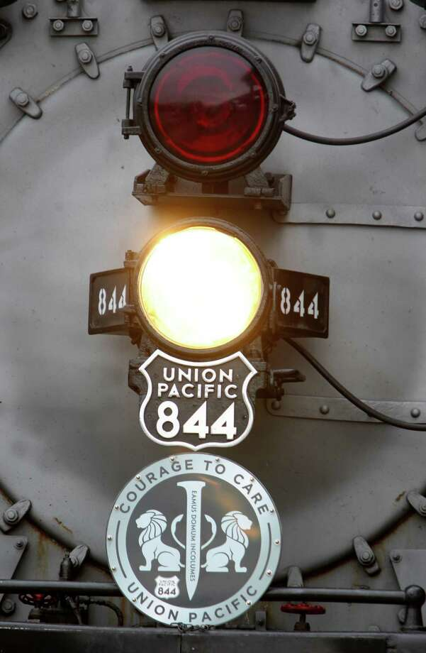 Detail of emblem placed on the Union Pacific Railroad steam engine train on Friday, Oct. 26, 2012, in Houston. Photo: Mayra Beltran, Houston Chronicle / © 2012 Houston Chronicle