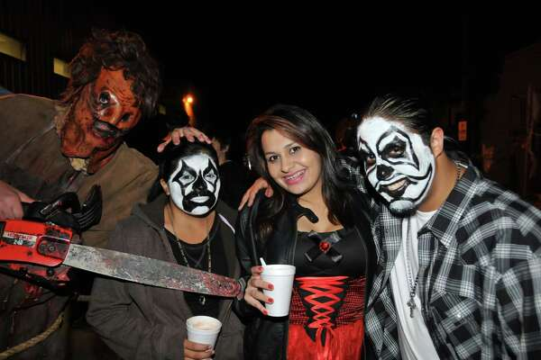 Revelers get their Halloween chills and thrills at Nightmare on Grayson on Friday, Oct. 26, 2012.