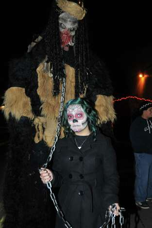 Revelers get their Halloween chills and thrills at Nightmare on Grayson on Friday, Oct. 26, 2012. Photo: Xelina Flores-Chasnoff, For MySA.com