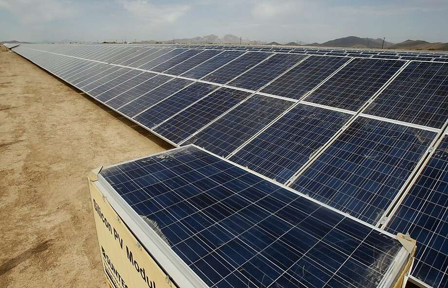 The price of solar panels has plummeted, largely because of a glut of Chinese-made panels. The drop rendered technically advanced panels, like those from Solyndra and other U.S. firms, too costly to compete. Photo: Ross D. Franklin, Associated Press