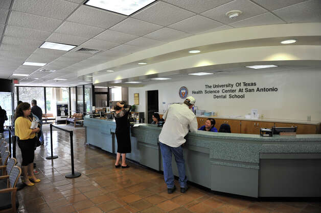The lobby of the dental school at the University of Texas Health Science Center at San Antonio is seen on Oct. 22, 2012. Photo: Robin Jerstad, For The Express-News