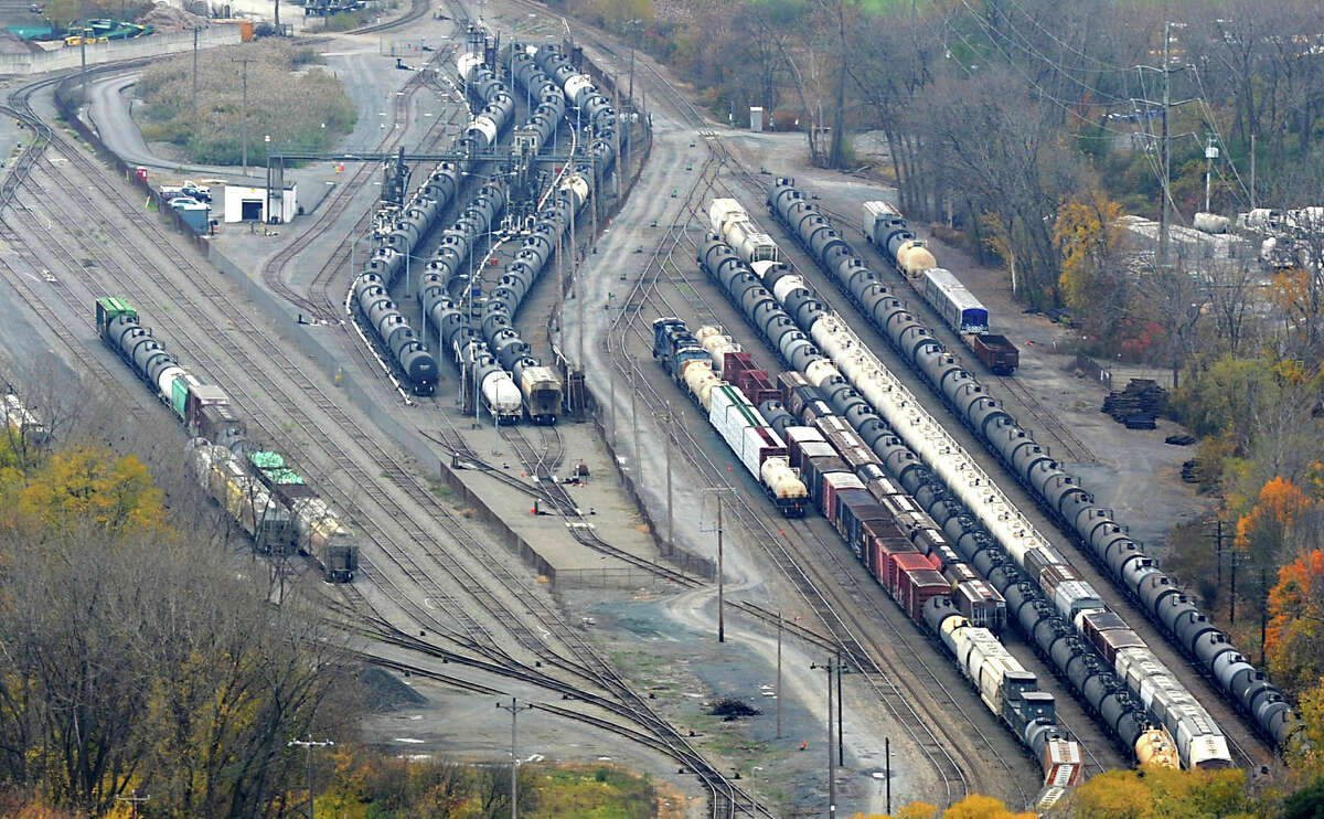 Oil tanker railcars at the Port of Albany Thursday, Oct. 25, 2012 in Colonie, N.Y. (Lori Van Buren / Times Union)