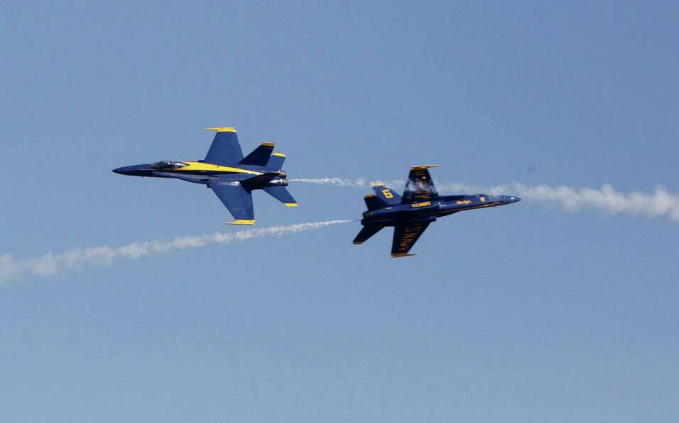 Blue Angels, U.S. Navy's Flight Demonstration Squadron, perform during the 28th Annual Wings Over Ho