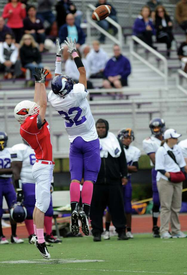 Saturday's football game at Westhill High School on October 27, 2012. Photo: Lindsay Niegelberg