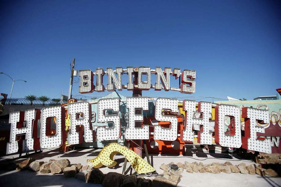 The sign from Benny Binion's casino at the Neon Museum's boneyard in Las Vegas, Oct. 24, 2012. The museum opened on Saturday, Oct. 27, 2012, after more than 15 years of effort. Photo: Isaac Brekken, New York Times / NYTNS