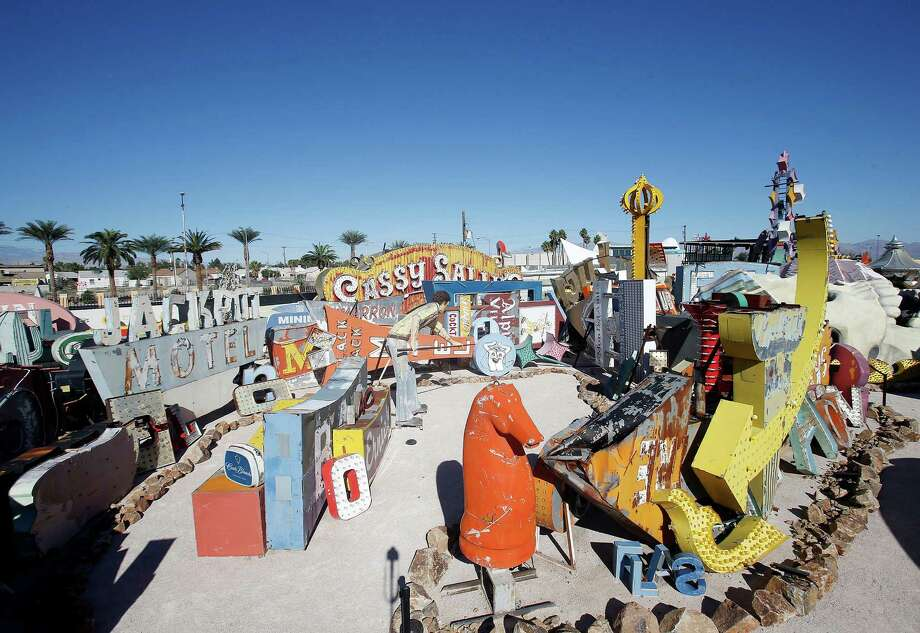 The Neon Museum's boneyard in Las Vegas, Oct. 24, 2012. The museum opened on Saturday, Oct. 27, 2012, after more than 15 years of effort. Photo: Isaac Brekken, New York Times / NYTNS