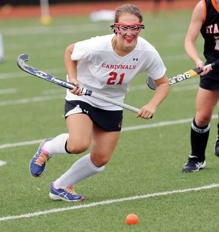 Lizzy Trotta # 21 of Greenwich during the FCIAC field hockey tournament match between Stamford High School and Greenwich High School at Greenwich, Saturday afternoon, Oct. 27, 2012. Photo: Bob Luckey / Greenwich Time