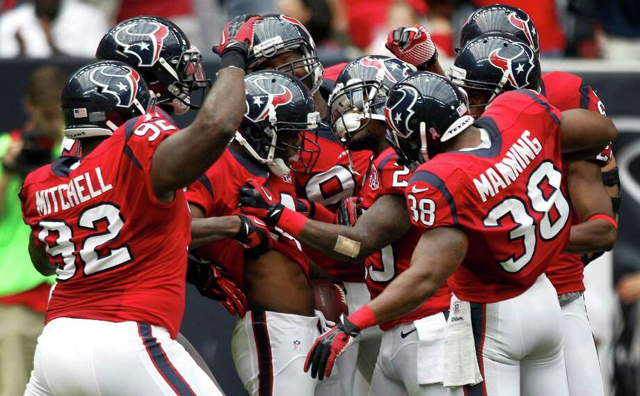 After regaining their momentum with an impressive win over Baltimore, the Texans are feeling good about themselves  as they prepare for the second half of the season. Photo: Brett Coomer, Staff / © 2012  Houston Chronicle