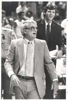 1974: Bob Bass replaces Tom Nissalke as head coach. Despite a slow start, the Spurs win 30 of their final 45 games. More importantly, Bass installs an entertaining, up-tempo offense that helped build the team's popularity. Express-News file photo from 1984 (EXPRESS-NEWS FILE PHOTO)