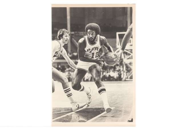 "1975: Having already executed the Gervin blockbuster, Drossos makes what he considers his best deal – sending fan favorite Swen Nater to the Nets for Larry Kenon, Mike Gale and Billy Paultz. Says Bass: ""That's a trade this franchise lived off of for years."" Express-News file photo of Mike Gale in 1981"