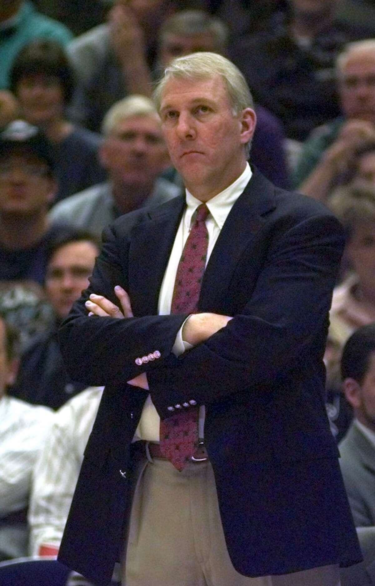 In 1996, Gregg Popovich, then Spurs' general manager, chose himself to replace head coach Bob Hill after a 3-15 start. Pop doesn't fare much better, going 17-47 in his first season as an NBA coach. The ensuing years, however, will be much kinder.