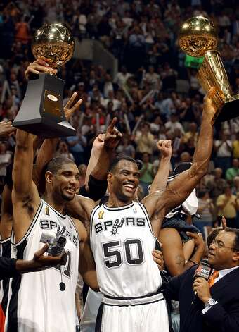 2012: The Spurs enter their 40th season in San Antonio with a .605 winning percentage, trailing only the Lakers and the defunct Chicago Stags in pro basketball history. They've been even more successful in the Tim Duncan era, leading all U.S. pro franchises at .702. Jerry Lara/Express-News (SAN ANTONIO EXPRESS-NEWS)
