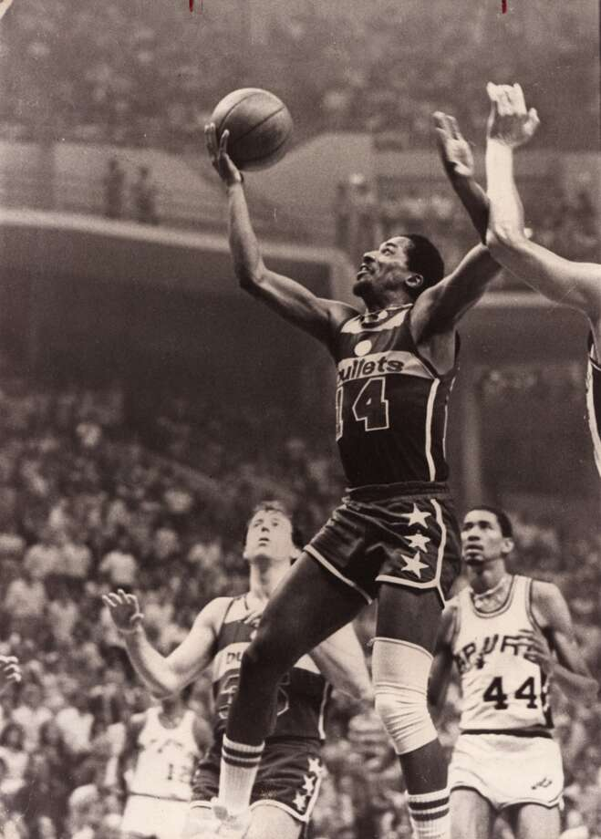 Washington Bullets 107, Spurs 105: 1979 Eastern Conference finals - The Spurs cannot maintain a late six-point lead, squandering what would have been their first trip to the Finals.  Express-News file photo (FILE PHOTO)