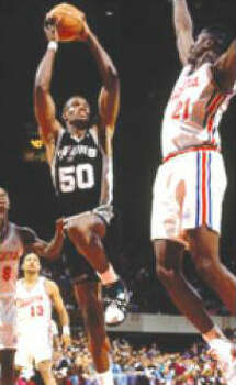 Spurs 112, Los Angeles Clippers 97: 1993-94 regular season - Another statistical feat for the Admiral: a franchise-record 71 points to surpass Shaquille O'Neal for his only scoring title (29.8 ppg). AP file photo