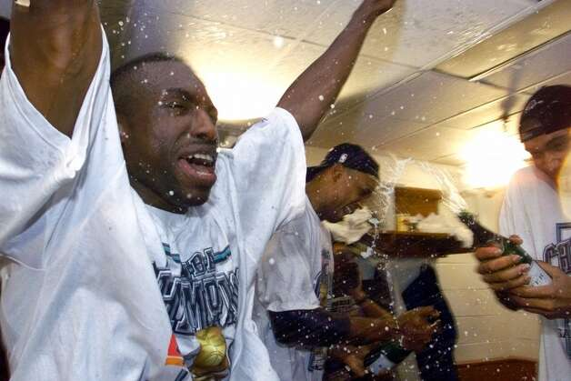 Spurs 78, New York Knicks 77: 1999 Finals - The Spurs clinch their first championship with the help of Avery Johnson's baseline jumper in the final minute in Game 5. AP file photo (AP)
