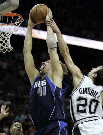 Dallas Mavericks 119, Spurs 111 (OT): 2006 Western Conference semifinals - This classic seven-game series hinges on Manu Ginobili's ill-advised late foul (above), allowing the Mavs to force OT and eventually win. AP file photo (AP)