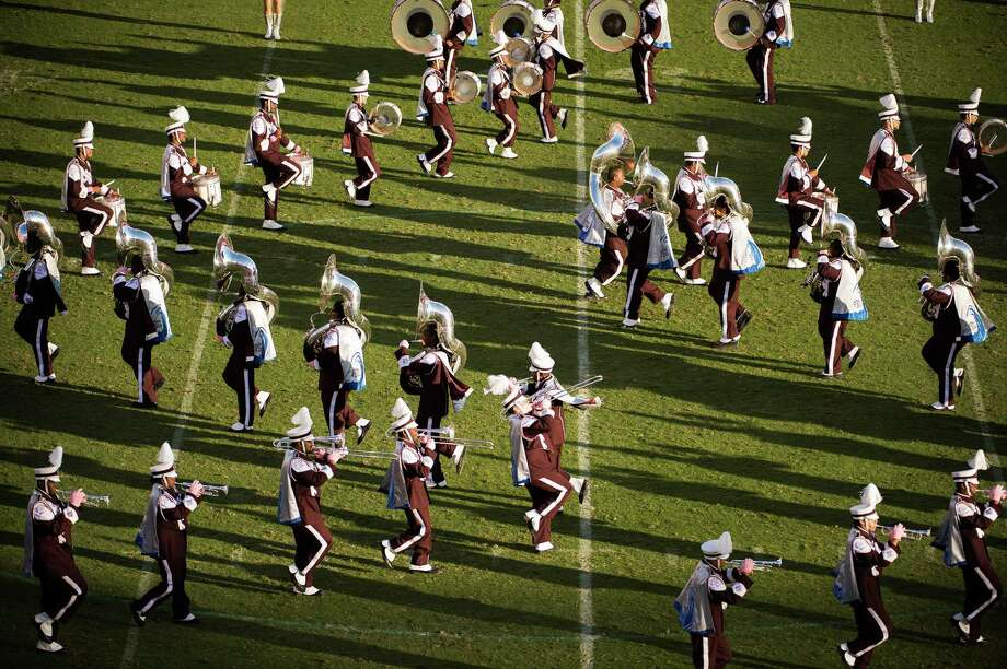 "The Texas Southern University ""Ocean of Soul"" marching band performs at halftime of a college football game at against Grambling. Photo: Smiley N. Pool, Houston Chronicle / © 2012  Houston Chronicle"