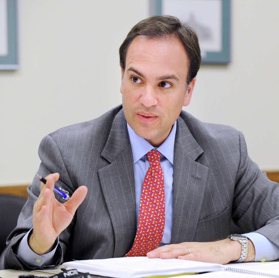 Greenwich First Selectman Peter Tesei during the Harbor Management Advisory Committee's first meeting at Greenwich Town Hall April 26, 2012. Photo: Bob Luckey