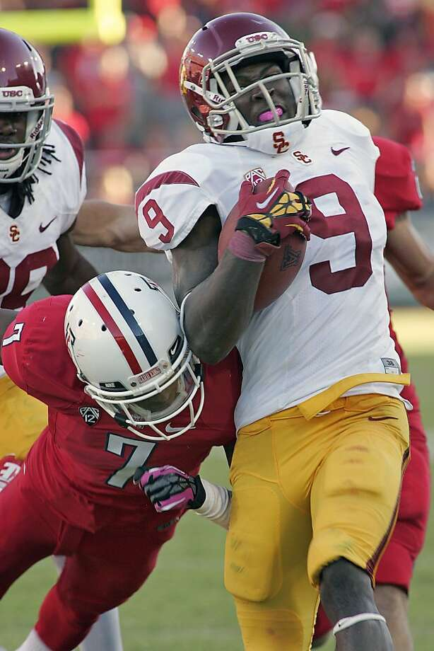 USC's Marqise Lee set a Pac-12 record with 345 receiving yards, but it wasn't enough for a win. Photo: John Miller, Associated Press