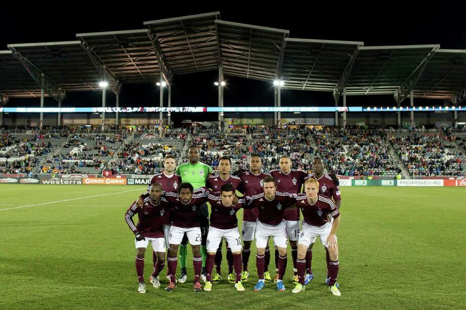 COMMERCE CITY, CO - OCTOBER 27:  The Colorado Rapids pose on the pitch before taking on the Houston Dynamo at Dick's Sporting Goods Park on October 27, 2012 in Commerce City, Colorado. The Rapids defeated the Dynamo 2-0. Photo: Justin Edmonds, Getty Images / Getty Images North America