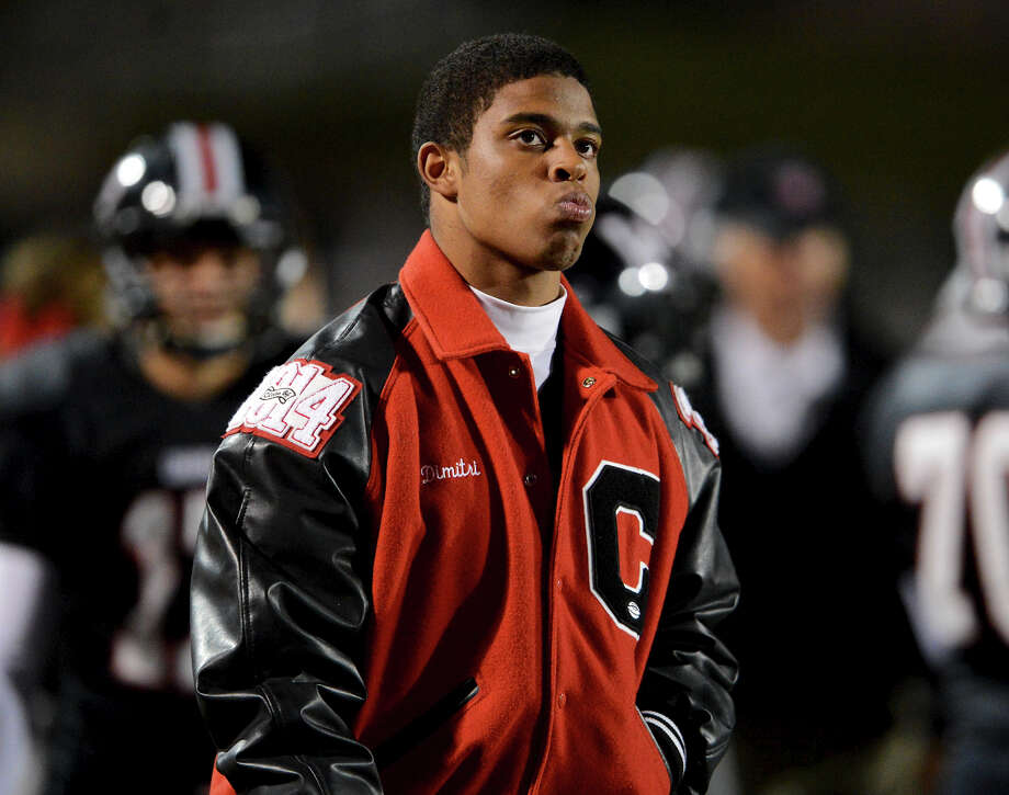 Churchill's Dimitri Flowers can only watch from the sidelines as the Chargers trail Roosevelt during a district 26-5A football game at Comalander Stadium in San Antonio, Saturday, October 27, 2012. John Albright / Special to the Express-News. Photo: JOHN ALBRIGHT, Express-News / San Antonio Express-News