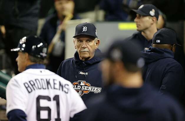 Tigers' manager Jim Leyland paces the dugout late in the game, as the San Francisco Giants went on to beat the Detroit Tigers 2-0 to take game three of the World Series, on Saturday Oct. 27, 2012 , in Detroit, Michigan. The Giants now lead the series 3-0. Photo: Michael Macor, The Chronicle