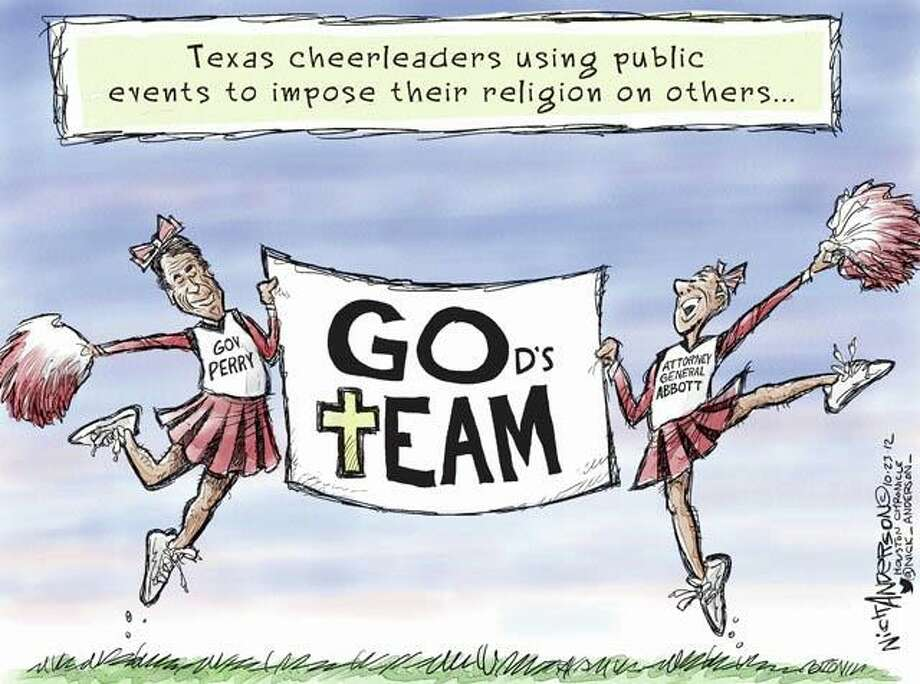 "Cheer ""leaders"" (Nick Anderson / Houston Chronicle)"