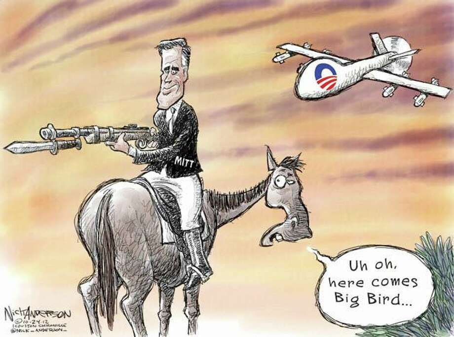 Horses and bayonets (Nick Anderson / Houston Chronicle)