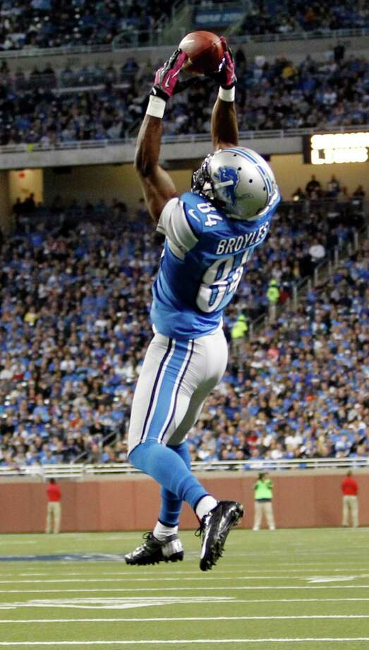 Detroit Lions wide receiver Ryan Broyles (84) makes a touchdown catch in the first half of an NFL football game against the Seattle Seahawks, Sunday, Oct. 28, 2012. in Detroit. Photo: AP