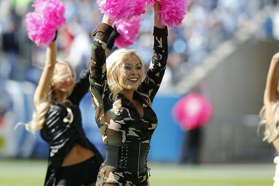 Tennessee Titans cheerleaders perform while wearing Halloween costumes during the first half of an NFL football game against the Indianapolis Colts, Sunday, Oct. 28, 2012, in Nashville, Tenn. (AP Photo/Joe Howell) Photo: Joe Howell, Associated Press