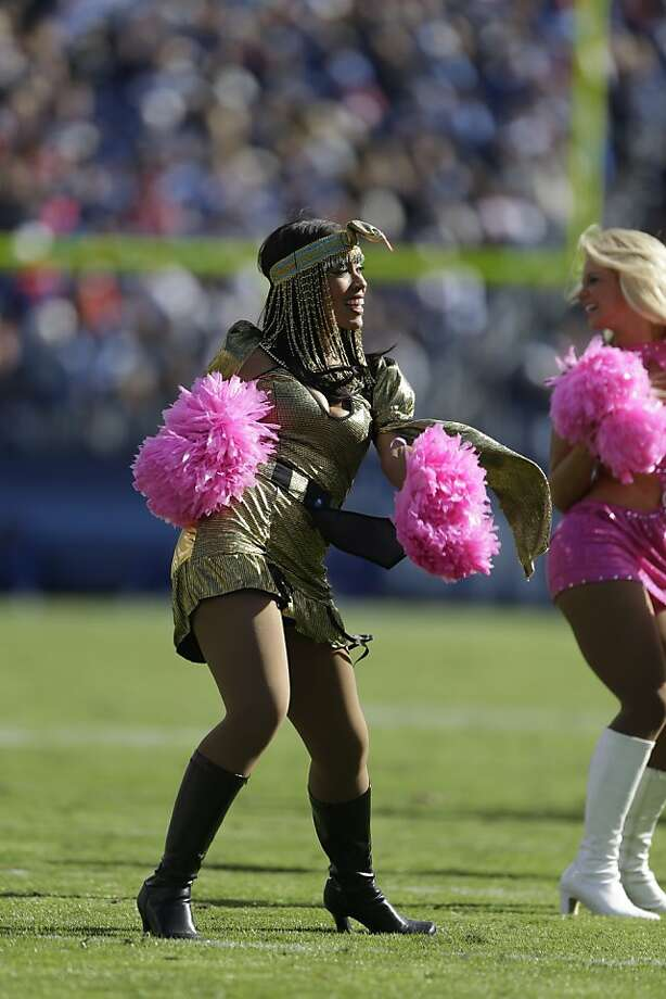 Tennessee Titans cheerleaders perform while wearing Halloween costumes during the second half of an NFL football game against the Indianapolis Colts, Sunday, Oct. 28, 2012, in Nashville, Tenn. (AP Photo/Mark Humphrey) Photo: Mark Humphrey, Associated Press