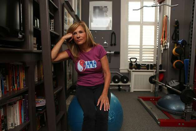 Obama campaign volunteer Kay Edelman sometimes finds it hard to exercise in San Francisco, Calif., as she worries about presidential polls on Thursday, October 25, 2012. Photo: Liz Hafalia, The Chronicle