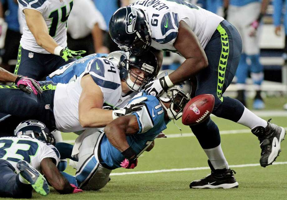 Detroit Lions wide receiver Stefan Logan (11) chases a loose ball against the Seattle Seahawks following a kickoff in the second half of an NFL football game, Sunday, Oct. 28, 2012. in Detroit. The Lions won 28-24. Photo: AP