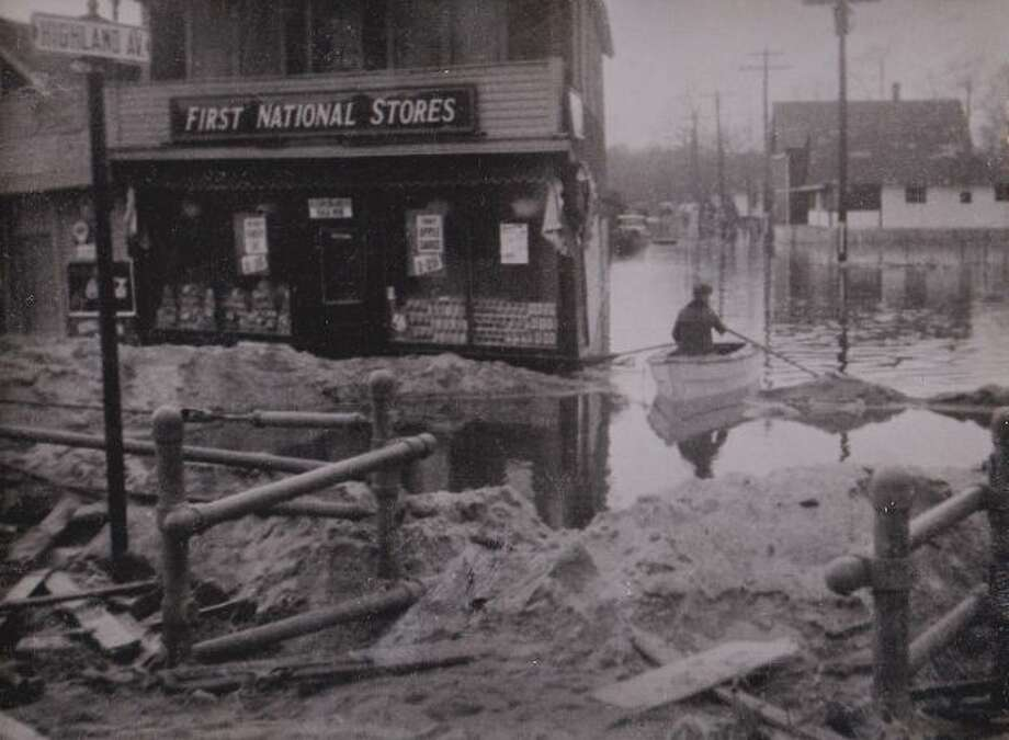 This archival photo shows damage in Milford following the hurricane of September 1938. Photo: Contributed Photo / CT