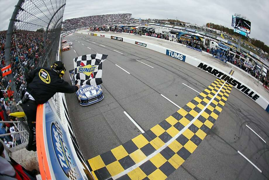 By taking the checkered flag at Martinsville, Jimmie Johnson distorted the Chase for the championship standings - supplanting Brad Keselowski on top. Photo: Streeter Lecka, Associated Press