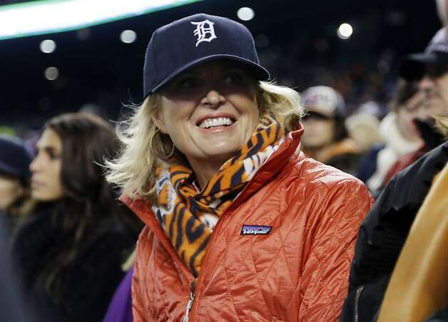 Ann Romney, wife of Republican presidential candidate Mitt Romney watches Game 4 of baseball's World Series between the San Francisco Giants and the Detroit Tigers Sunday, Oct. 28, 2012, in Detroit. (AP Photo/Darron Cummings) Photo: Darron Cummings, Associated Press