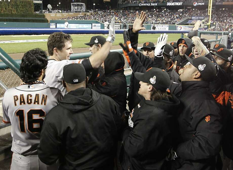 Buster Posey passed the eye test, showing his value on the field. He also led the NL in the sabermetricians' gold standard of WAR (wins above replacement). Photo: Michael Macor, The Chronicle
